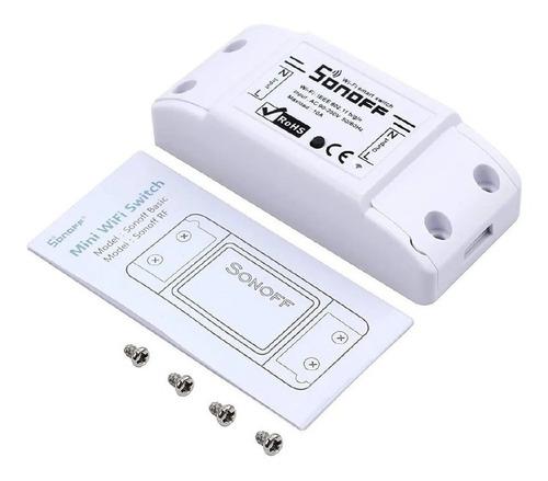 Interruptor Wi-fi Sonoff Basic Inteligente Domótica Original