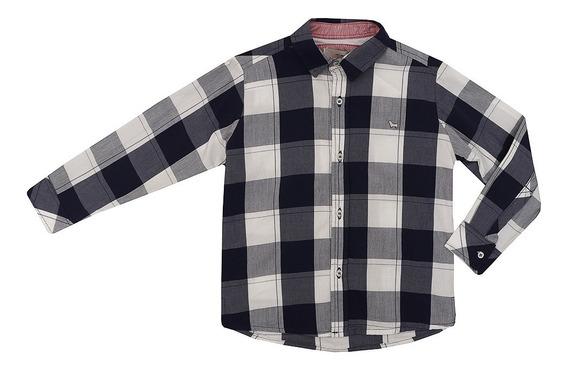 Camisa Infantil Masculino Manga Longa Xadrez