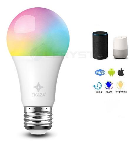 Imagem 1 de 10 de Smart Lâmpada Inteligente 10w+3w 1050lumens Wifi Ekaza Alexa