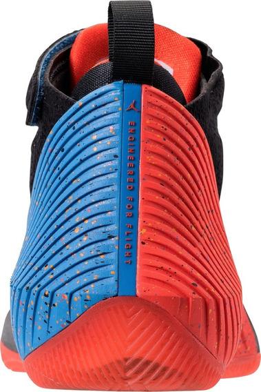 Tenis Jordan Why Not Zer 0.1 Negro C/azul,naranja 6 Al 7.5cm