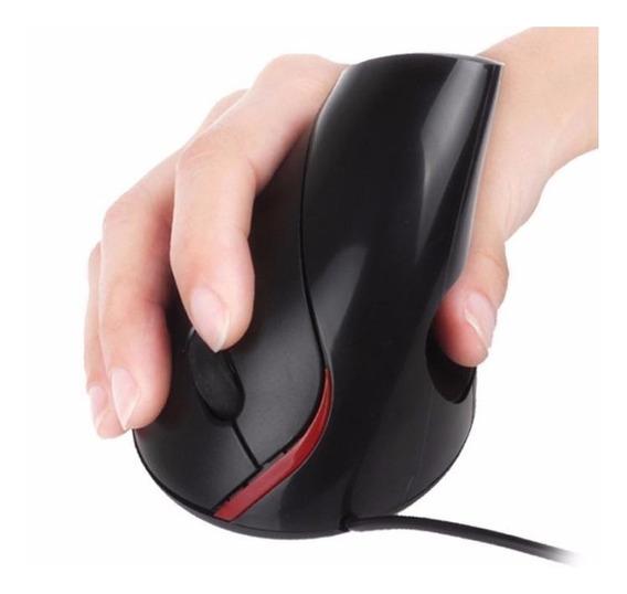 Mouse Óptico Ergonômico Vertical Previne Tendinites C/ Fio