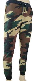 Calça Moleton Moletom Masculina Camuflada Exército