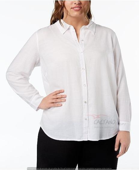 Camisa Elastizada Entallada Dama Talles Especiales Uniforme