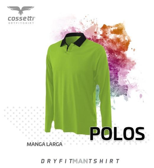Playera Tipo Polo Manga Larga Dry Fit Uniformes Empresas