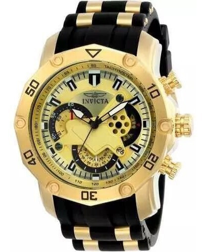 Relógio Invicta Pro Diver 23427 Original Dourado C/ Preto
