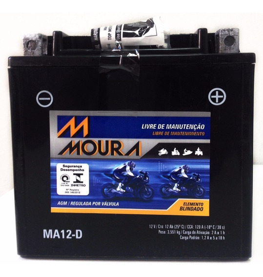 Bateria Moura Ma12-d Ytx14l-bs Hd Harley 883 1200 Sportster