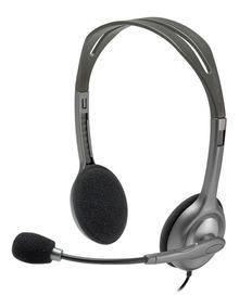 Fone De Ouvido Logitech C/mic H111 Compatível Com Smartphone