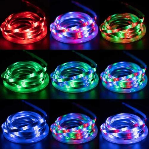 Imagem 1 de 5 de Luzes De Tira Led Rgb 2835 Controle Bluetooth Usb Flexível