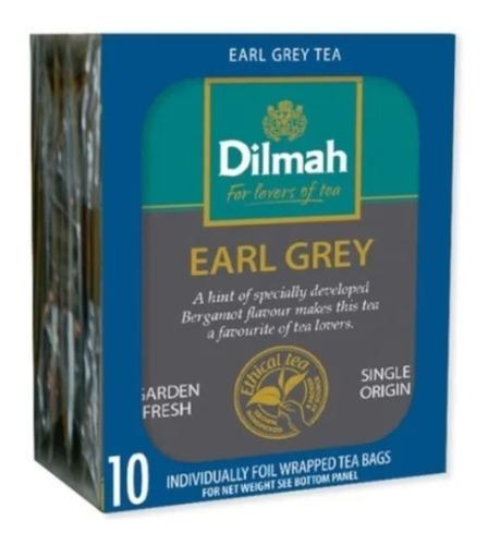 Te Earl Grey Gourmet Premium Sri Lanka Dilmah 10 Saquitos