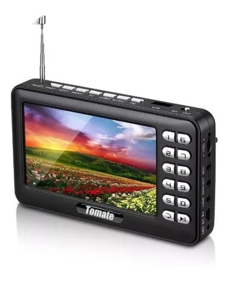Tv Digital Portátil Hd Tela 4.3 Monitor Mtm-403 Tomate
