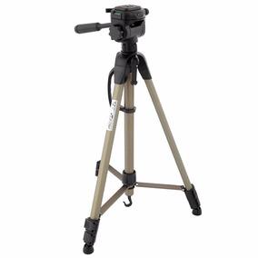 Tripé Para Camera Wt-3750 Alumínio 1.60m Hidraulica E Bolsa