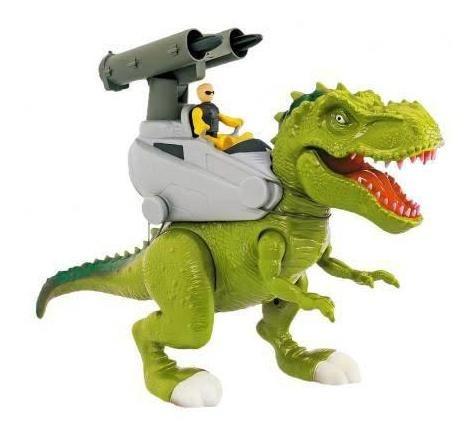 Dinossauro Rex Attack Verde Lança Missil Adijomar Brinquedos