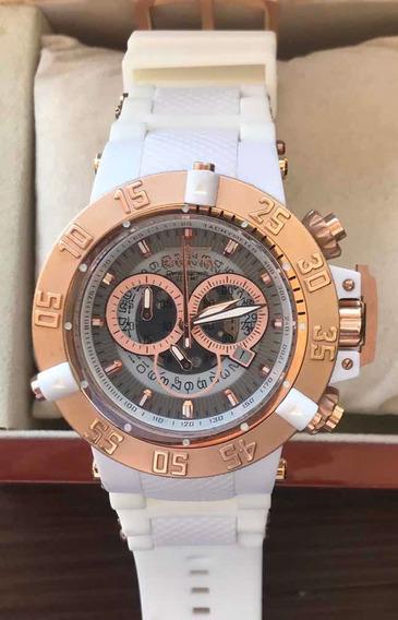 Relógio Invicta Sub Aqua Branco Com Detalhes Rose