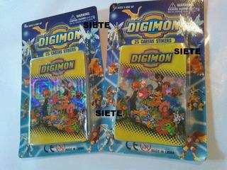 2 Blister Cerrados De Trading Cards Digimon Cartas Stikers !