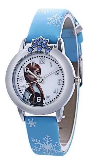 Relógio Infantil Elsa Frozen Disney Pedrinhas Envio Já