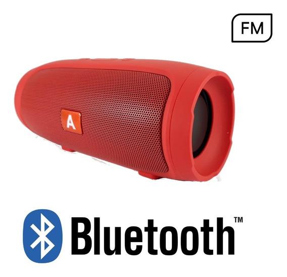 Caixa De Som Amplificada Bluetooth Fm Usb Al-007 15w Preta