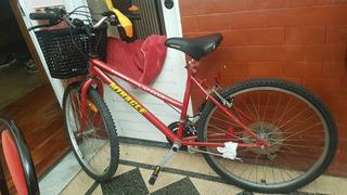 Bicicleta Rodado 26 18 Velocidades Con Canasto
