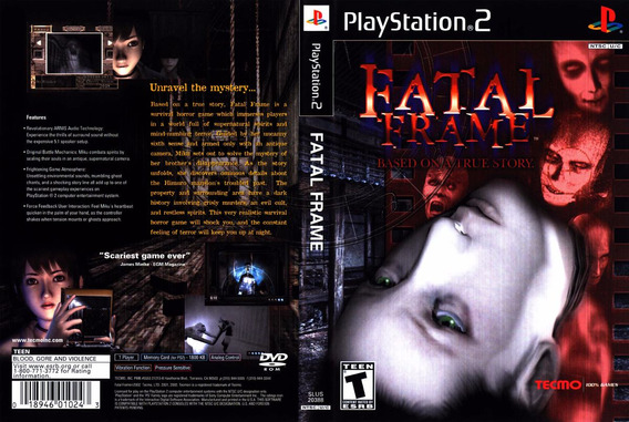 Fatal Frame 3 Jogos (2 Jogos Ptbr) Playstation 2 Dvdr
