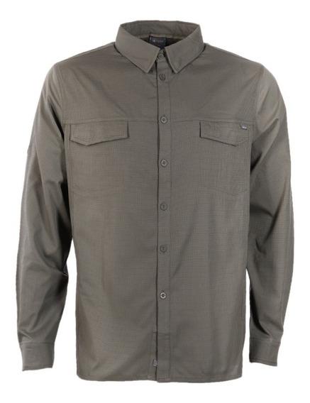 Camisa Hombre Rosselot Q-dry Shirt L/s Verde Oscuro Lippi