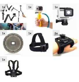 Acessórios Gopro Peito Dome 3 Way Hero 5 6 7 Black Kit Ação