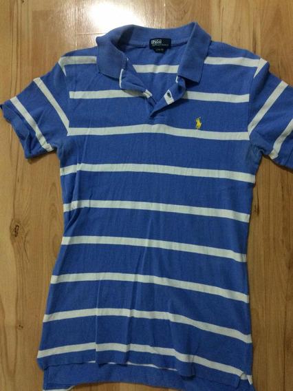 Polo Azul Claro Polo Ralph Lauren L 16/18 Para Adolescente