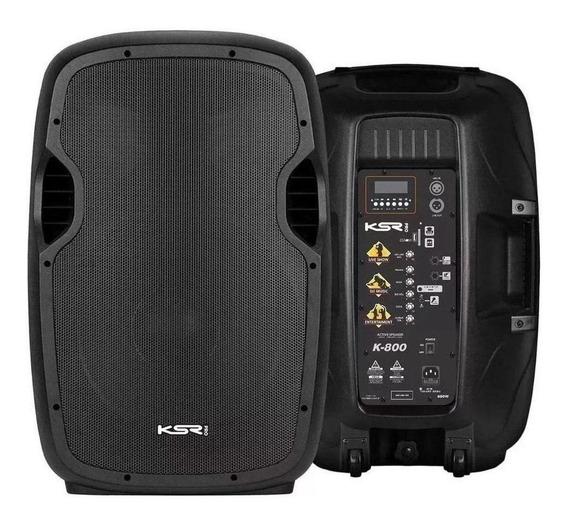 Caixa de som KSR Pro K-800 portátil sem fio Preto 110V/220V