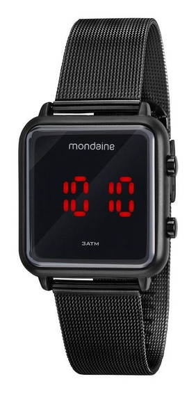 Relogio Mondaine Feminino 32008mpmvpe3 Digital Led Black