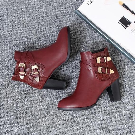 Ankle Boot Feminina J&k 61521 Importado