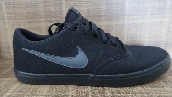 Tênis Nike Sb Check Solar Cnvs - Preto E Cinza (tam: Us 13)