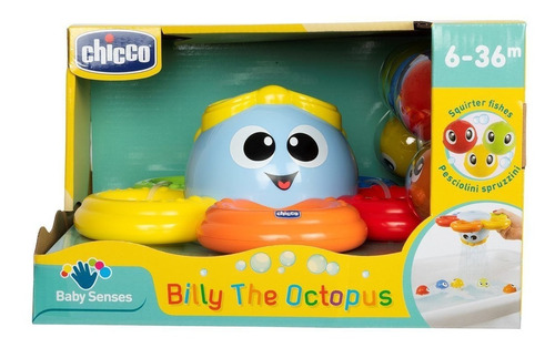 Chicco Billy The Octopus Juguete Para Baño Pulpo Con Peces