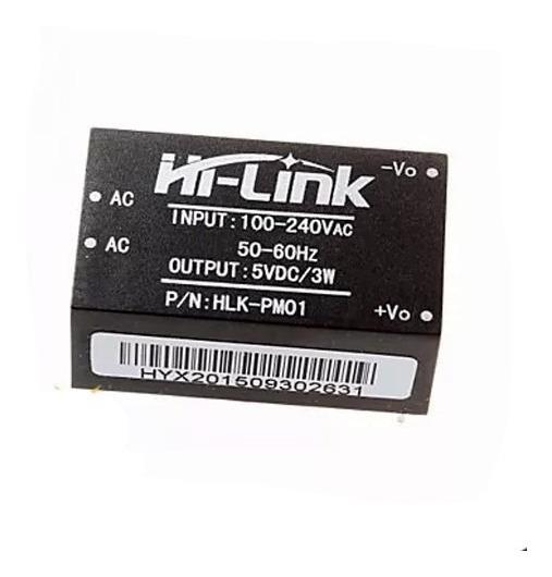 Mini Fonte Hi-link Hlk-pm01 100~240vac Para 5v 600ma Arduino