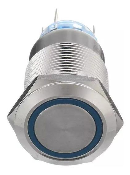 Botão Interruptor Start De Pulso 19mm Sem Trava Led 12v