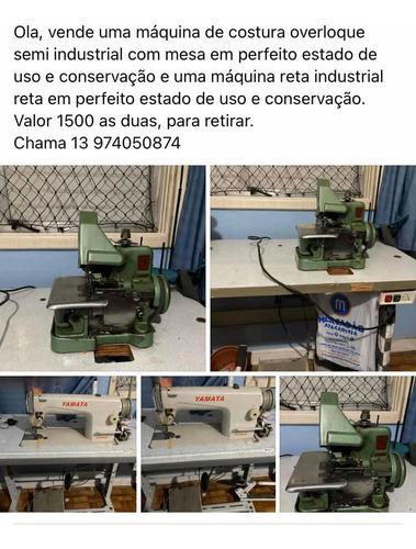 Imagem 1 de 5 de Vende  Máquina Costura Reta E Over $1.500 Para Retirar