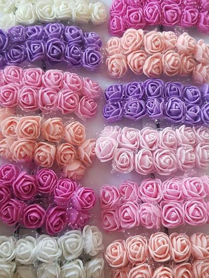 Flores X 144 Unidades Chicas Goma Eva Con Tul