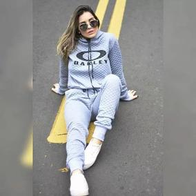 Conjunto Moletom De Frio Feminino Matelasse Oakley 2019