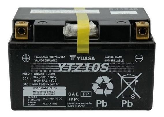 Bateria Moto Yuasa Ytz10s Kawasaki Zx-10 Zx10 8,6ah
