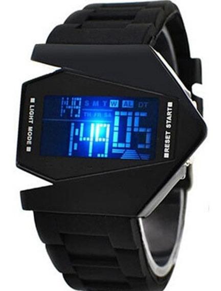Relógio Masculino Digital V Man Pulseira De Borracha Cronometro Calendário Alarme E Luz Promoção