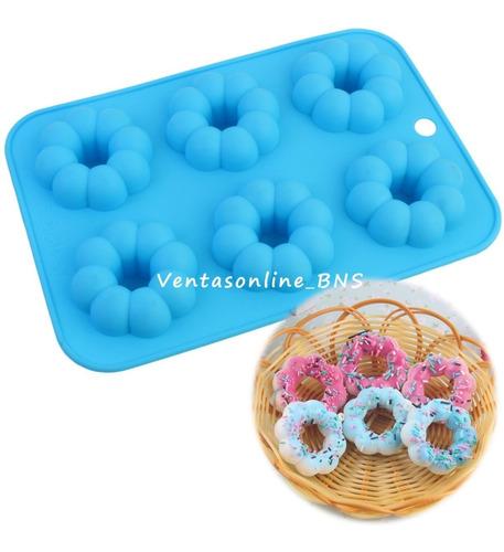 Molde De Silicon Flor Dona Aro Para Cupcakes. Reposteria