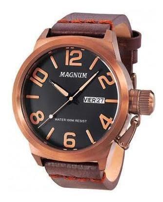 Lindo Relógio Magnum Masculino Marrom