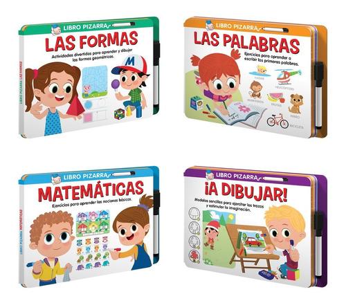 Set 2 De 4 Libros Pizarra Actividades Lúdicas Y Educativas