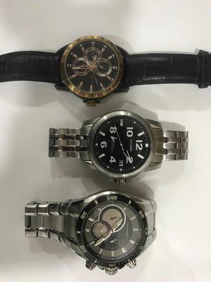 3 Relógios 1 Magnum,2 Technos