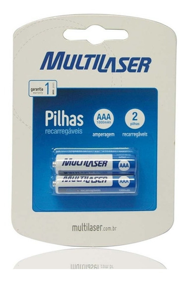 Pilhas Recarregáveis Aaa Multilaser Com 2 Unidades - Cb051