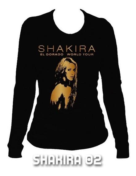 Playeras Shakira El Dorado World Tour -7 Diseños Disp C/envi