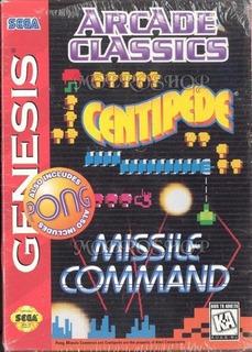 Arcade Classics Missle Command Centipede Y Pong