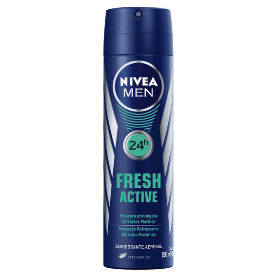 Desodorante Nivea For Men Fresh Active 24h Aerosol 150ml