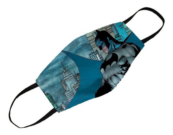 Mascara Personalizada Batman Herói Dc Comics Lavável