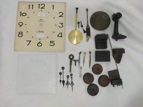 Relógio Antigo Lote C/ Várias Peças Ler Todo Anúncio.