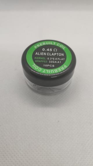 Caixa Prebuild Coils Alien Clapton 0.3*0.8+32 A1 0.45 Ohm