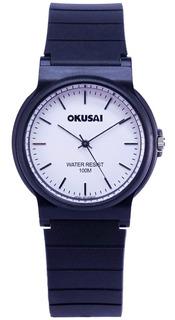 Reloj Okusai Wr100 Ok74 Dama Caucho Garantía Oficial 12 M