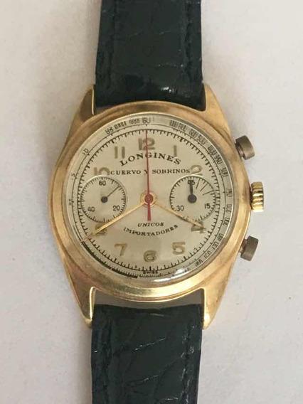 Reloj Longines Cuervo Y Sobrinos Cronógrafo